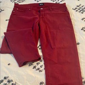 Hudson red skinny jeans